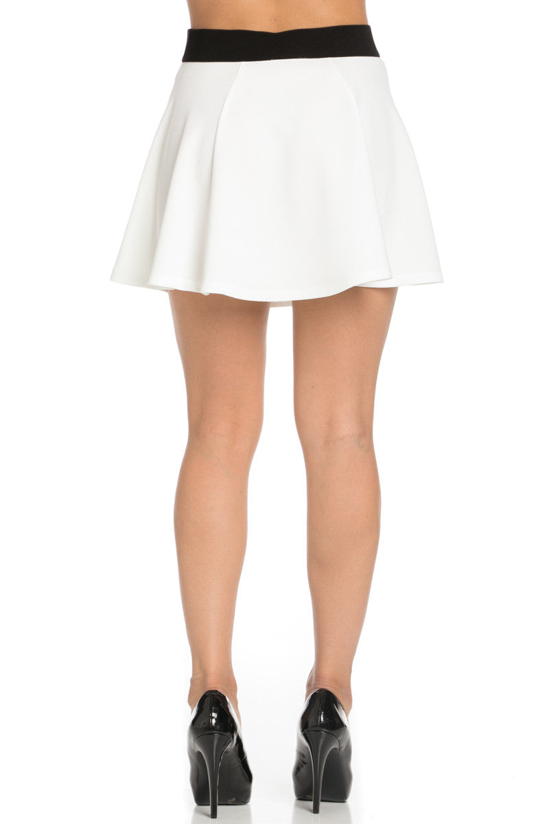 Micro Wafer White Skater Skirt - Skirts - My Yuccie - 4