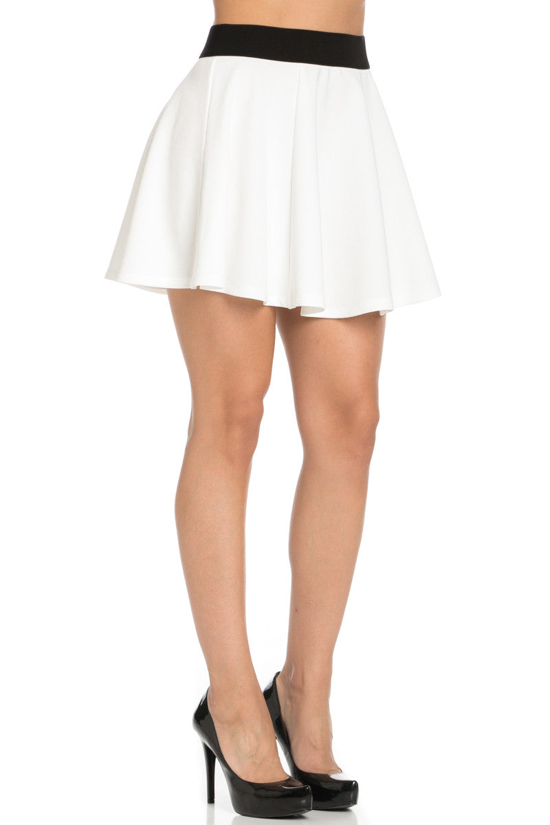 Micro Wafer White Skater Skirt - Skirts - My Yuccie - 5