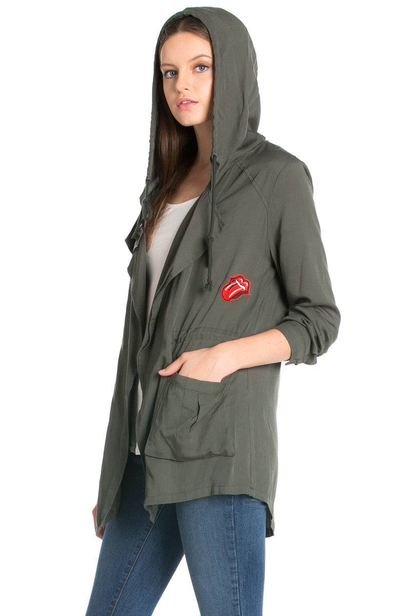 Olive Patched Up Hoodie Anorak Jacket - Jacket - My Yuccie - 5