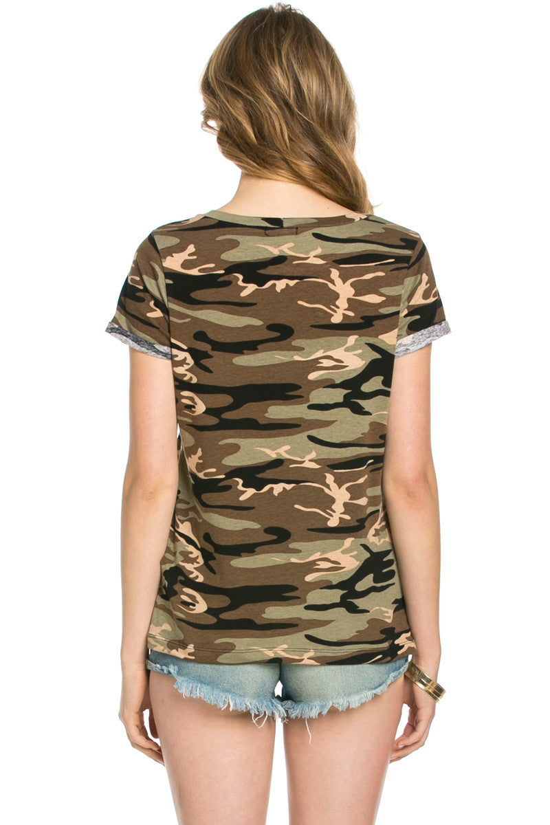 Southern Charm Camouflage Tee - Tops - My Yuccie - 2