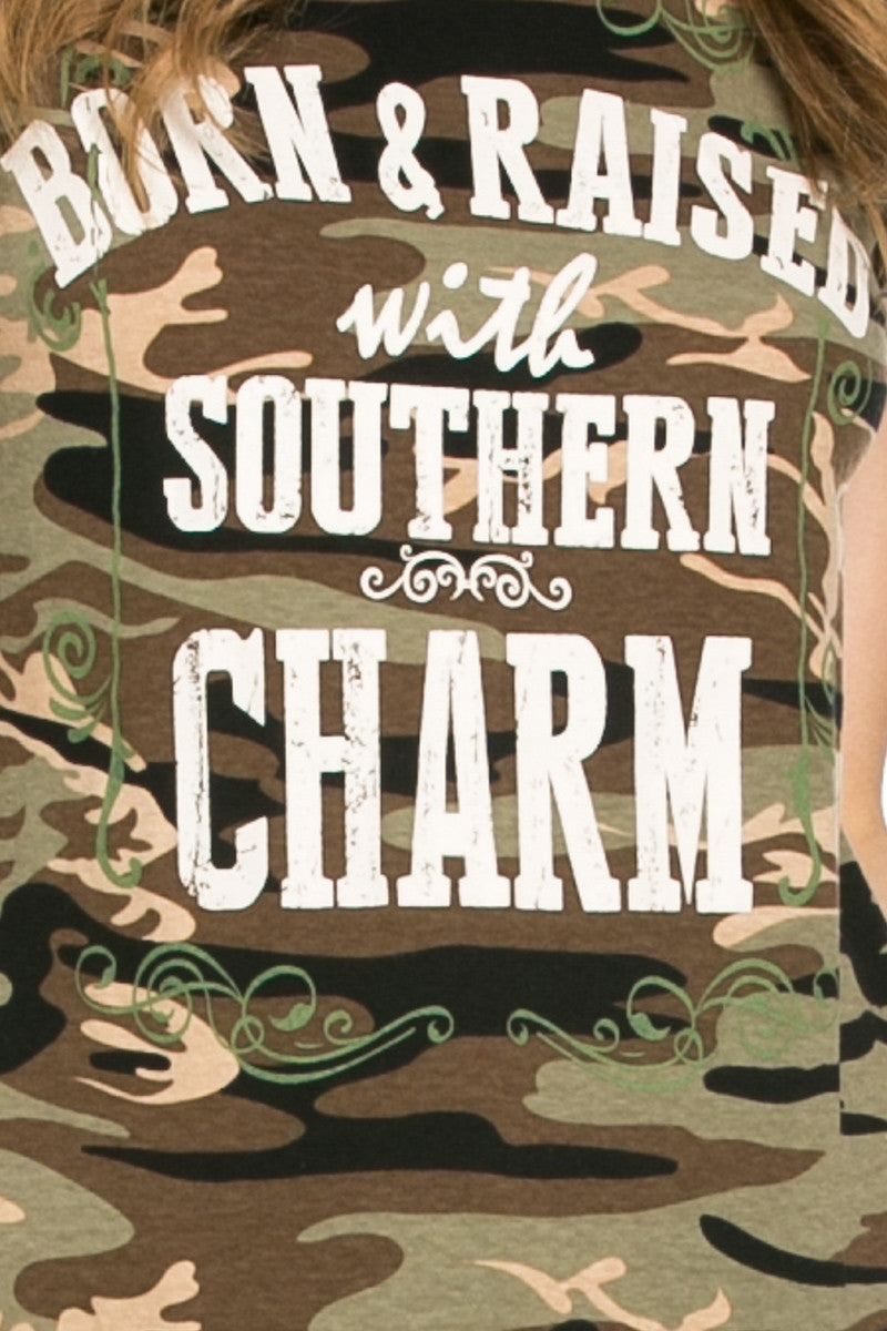 Southern Charm Camouflage Tee - Tops - My Yuccie - 5