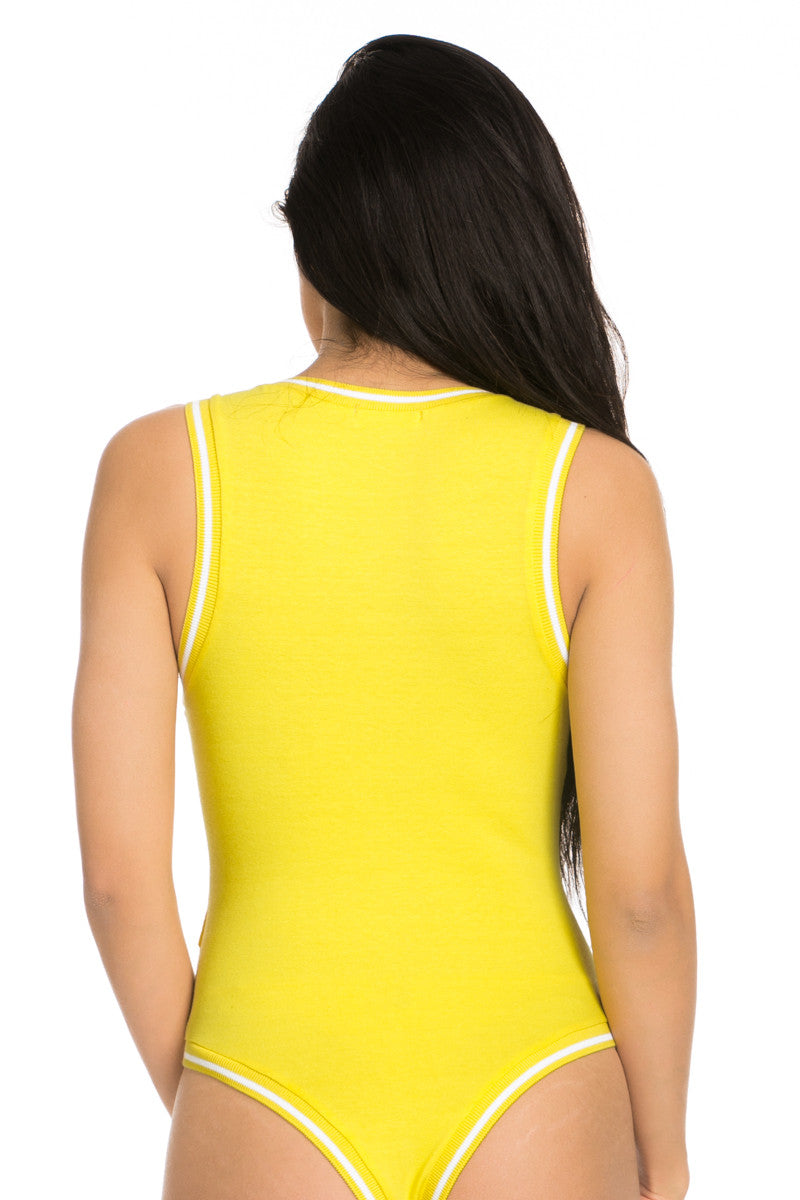 99 Problems Yellow Bodysuit - Jumpsuit - My Yuccie - 5