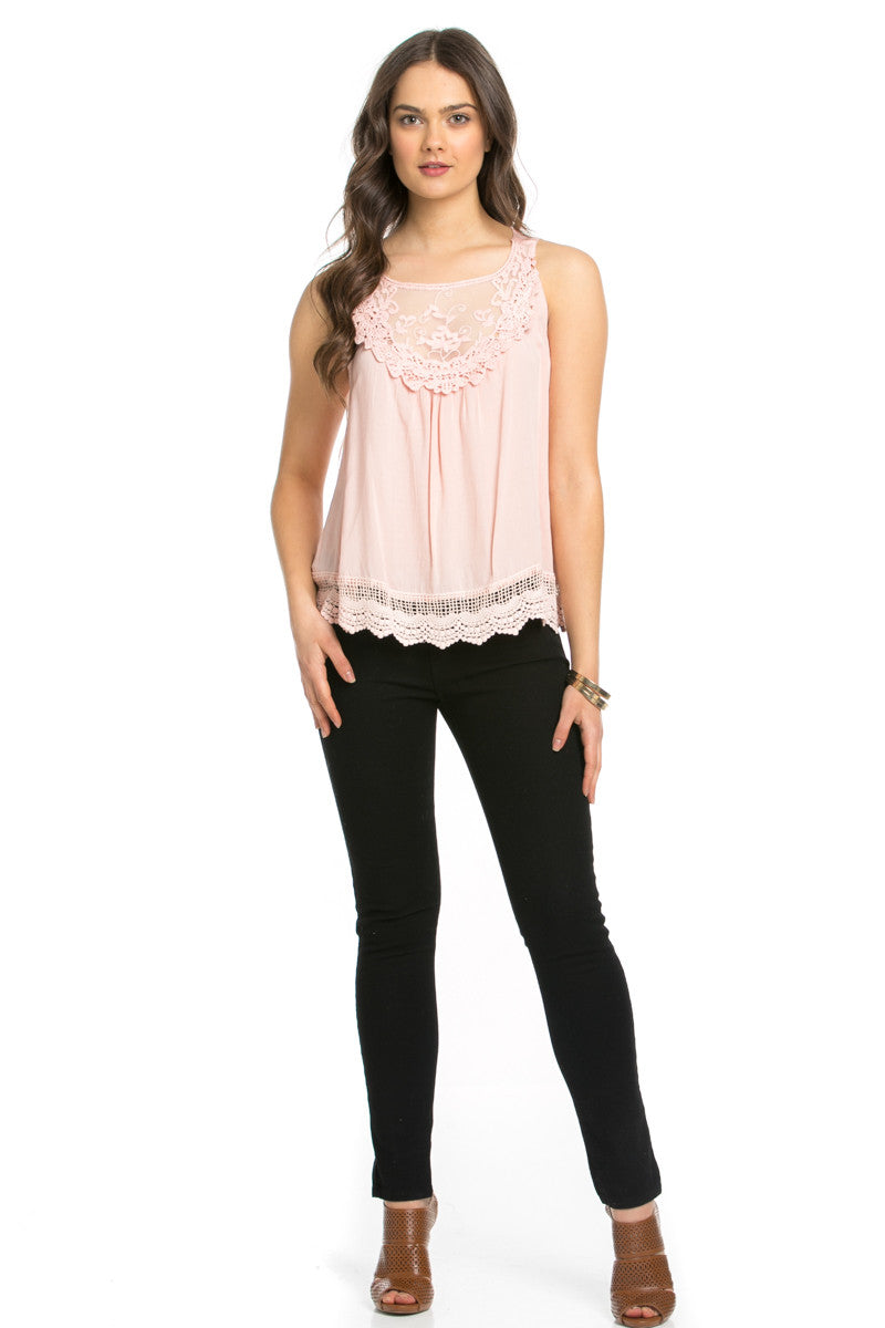 Crochets and Lace Blush Top - Tops - My Yuccie - 4