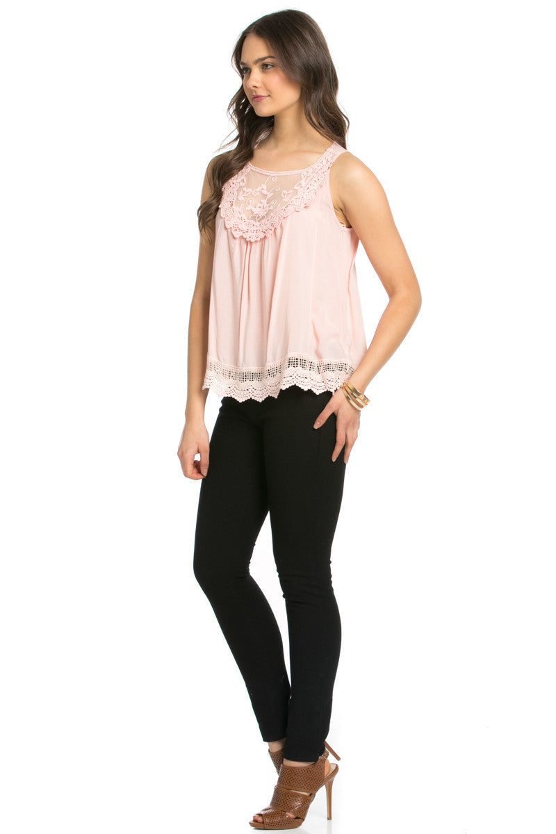 Crochets and Lace Blush Top - Tops - My Yuccie - 5