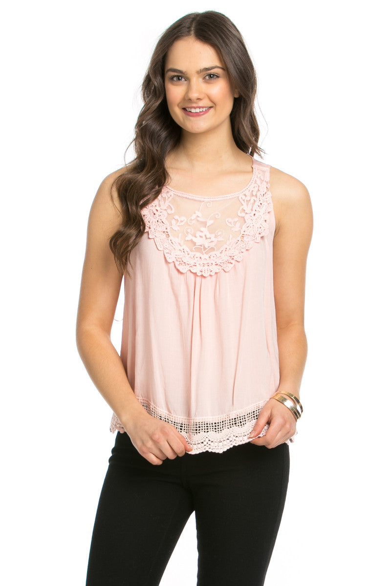 Crochets and Lace Blush Top - Tops - My Yuccie - 1