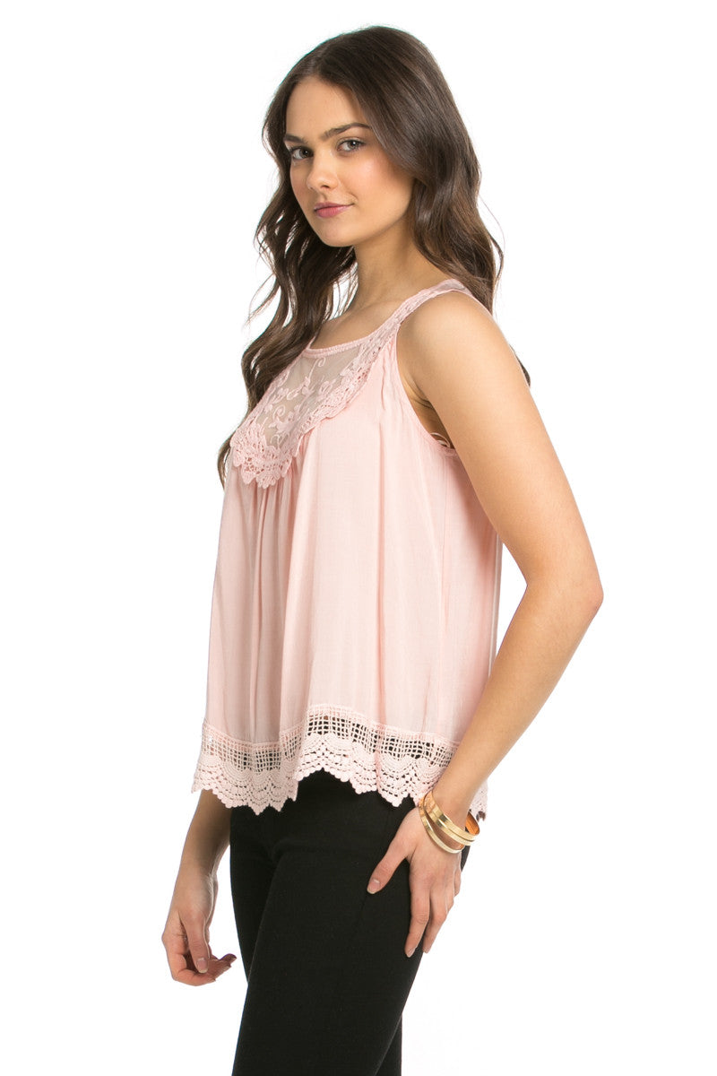 Crochets and Lace Blush Top - Tops - My Yuccie - 2