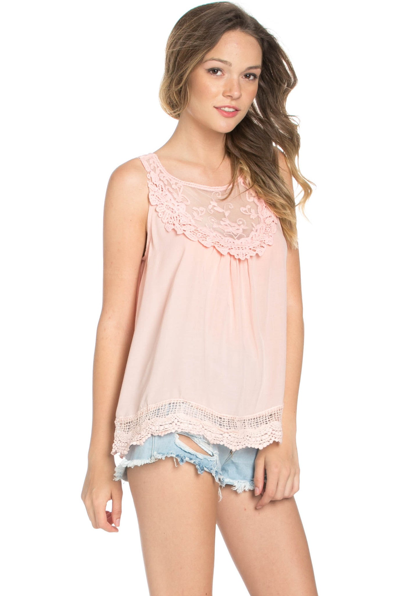 Crochets and Lace Blush Top - Tops - My Yuccie - 9