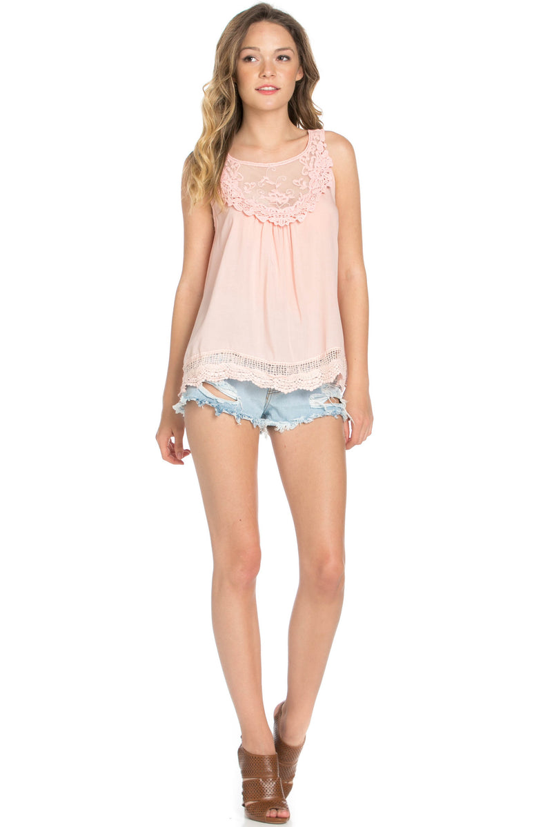 Crochets and Lace Blush Top - Tops - My Yuccie - 10
