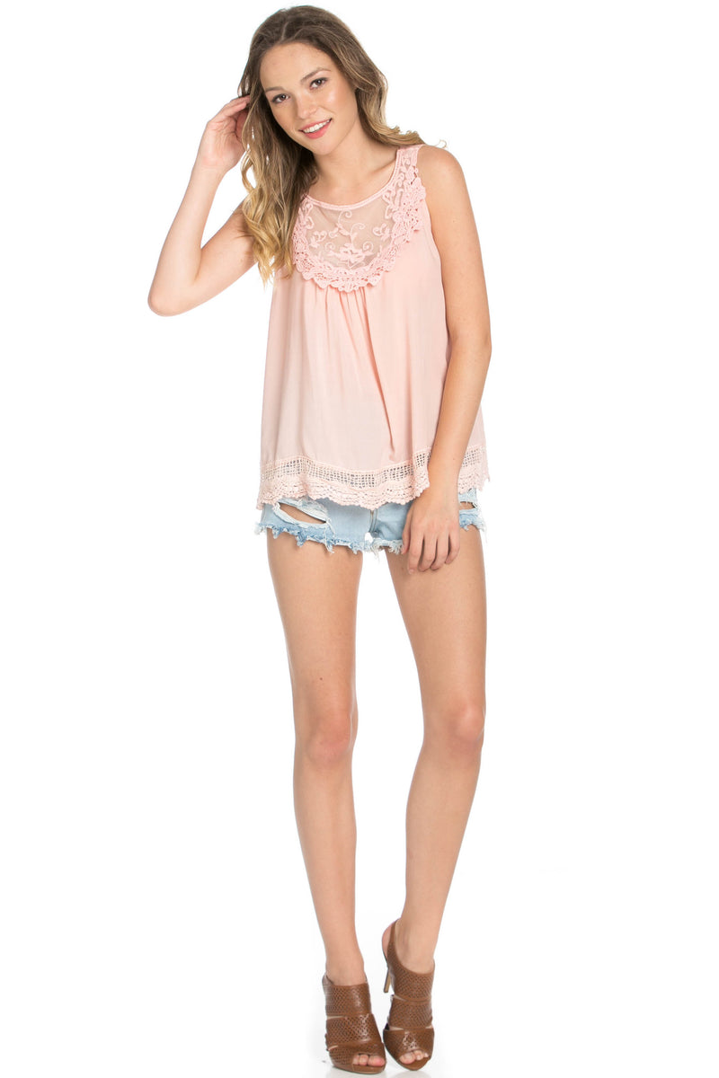 Crochets and Lace Blush Top - Tops - My Yuccie - 11