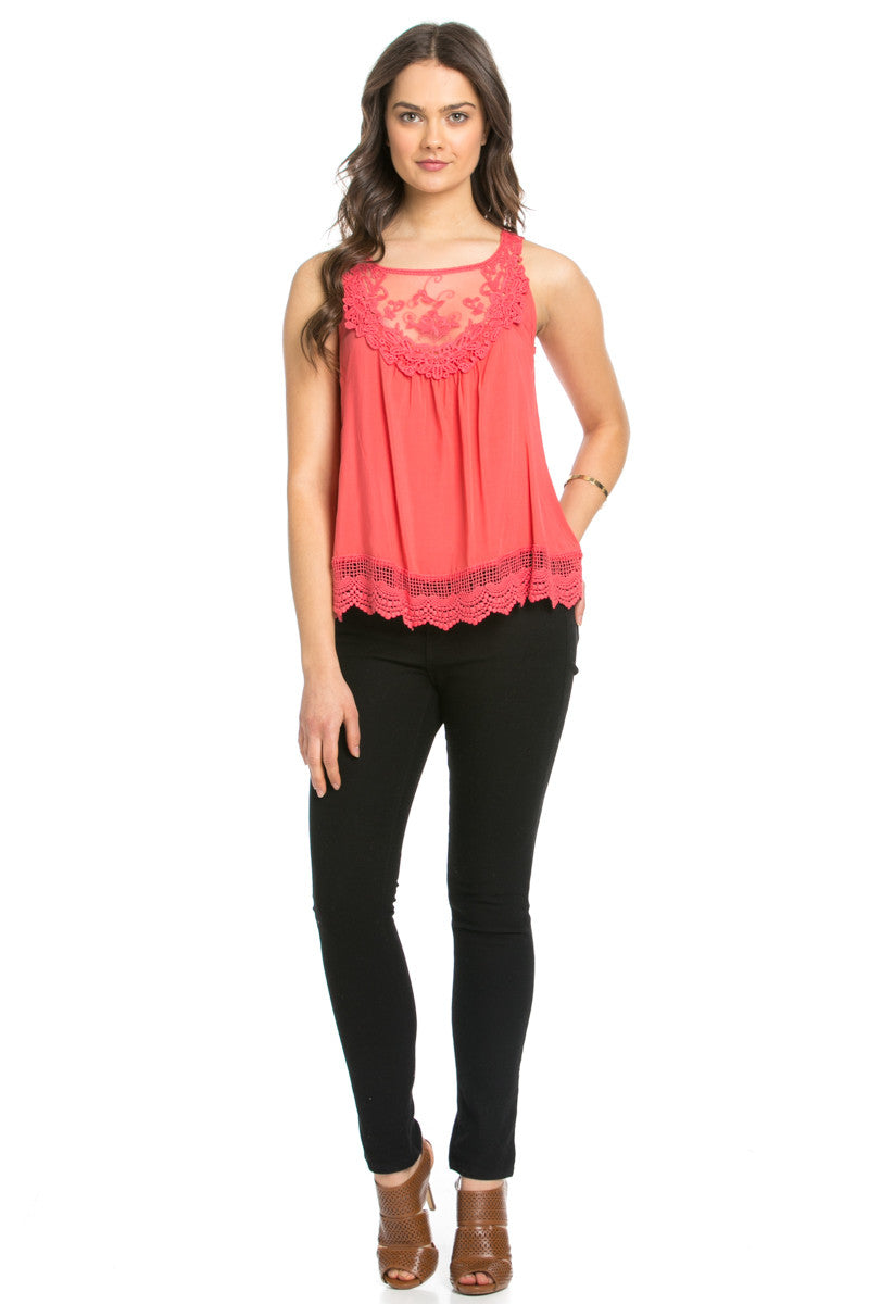 Crochets and Lace Coral Top - Tops - My Yuccie - 10