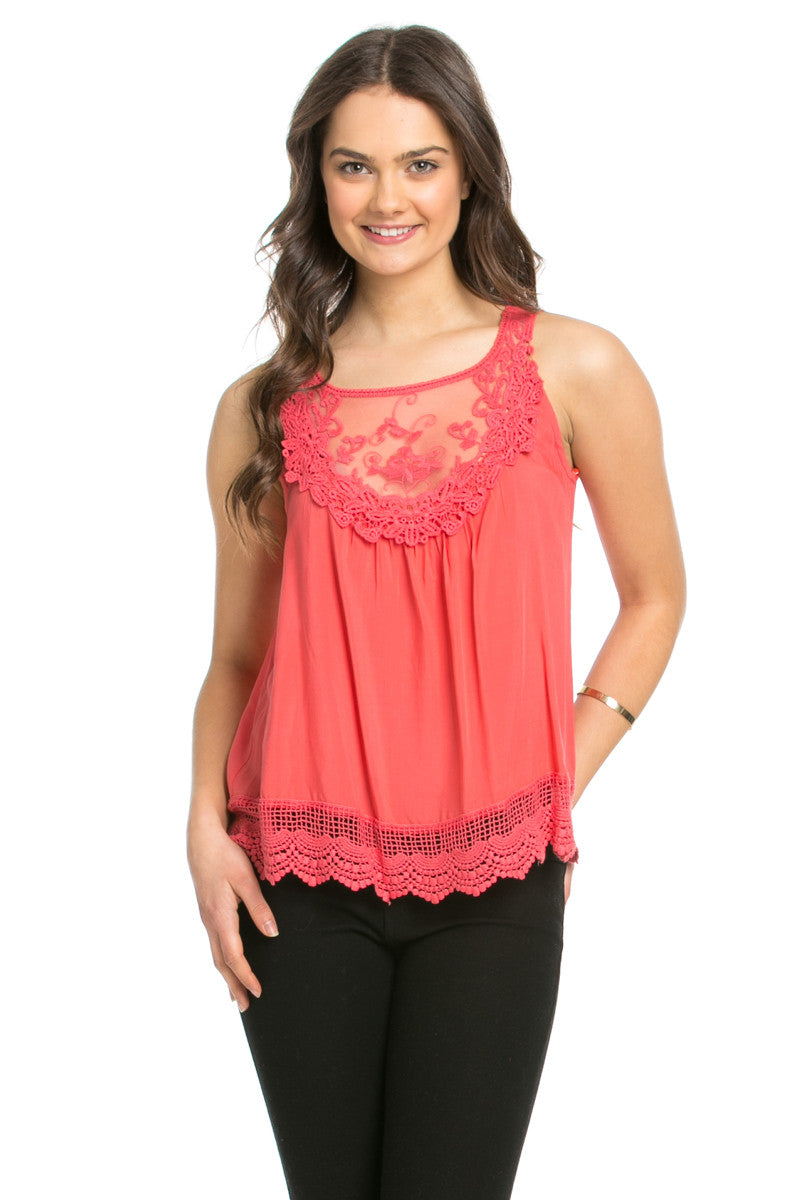 Crochets and Lace Coral Top - Tops - My Yuccie - 7