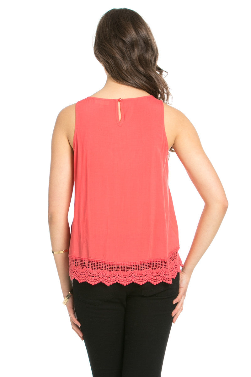 Crochets and Lace Coral Top - Tops - My Yuccie - 9