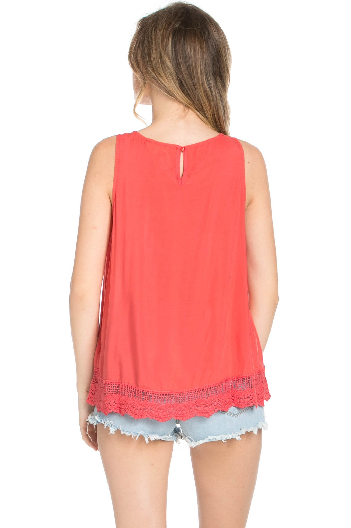 Crochets and Lace Coral Top - Tops - My Yuccie - 4