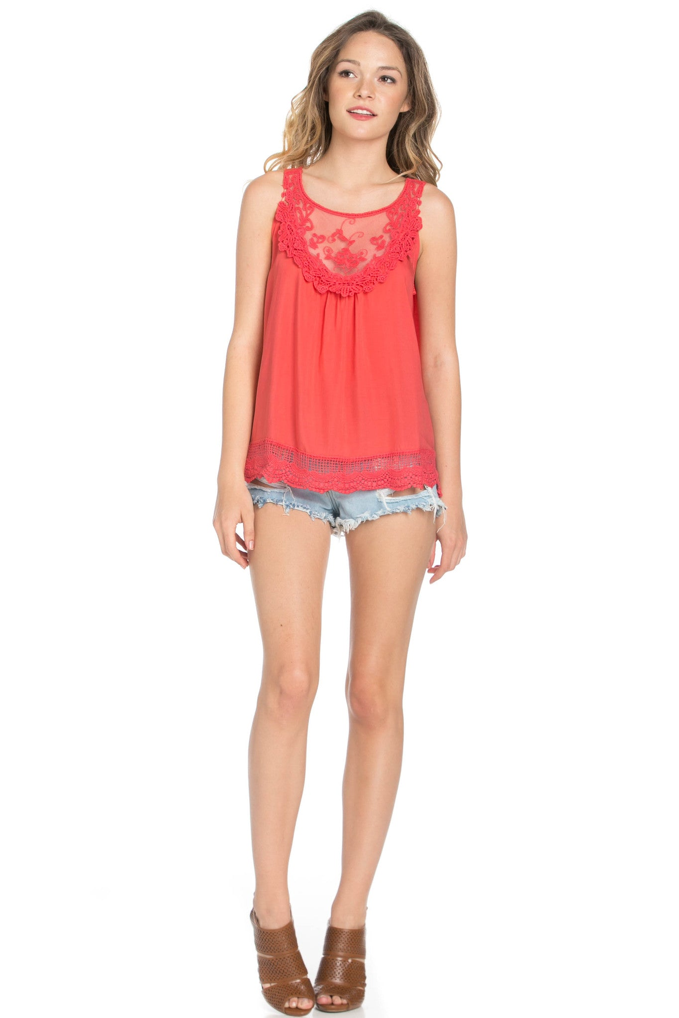 Crochets and Lace Coral Top - Tops - My Yuccie - 6