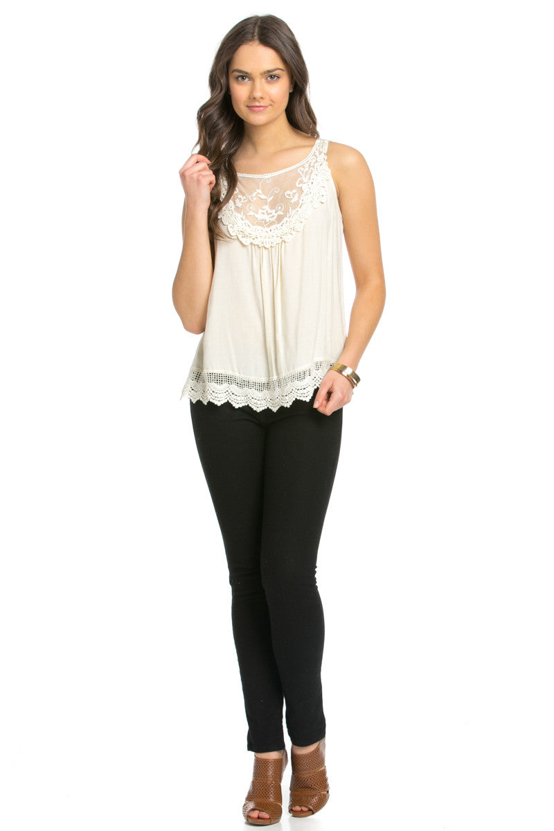 Crochets and Lace Ivory Top - Tops - My Yuccie - 14