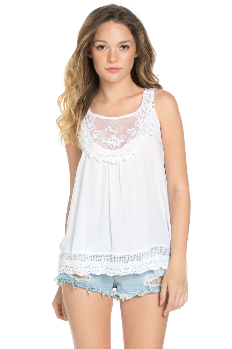Crochets and Lace Ivory Top - Tops - My Yuccie - 5