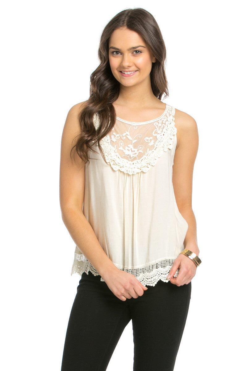 Crochets and Lace Ivory Top - Tops - My Yuccie - 11