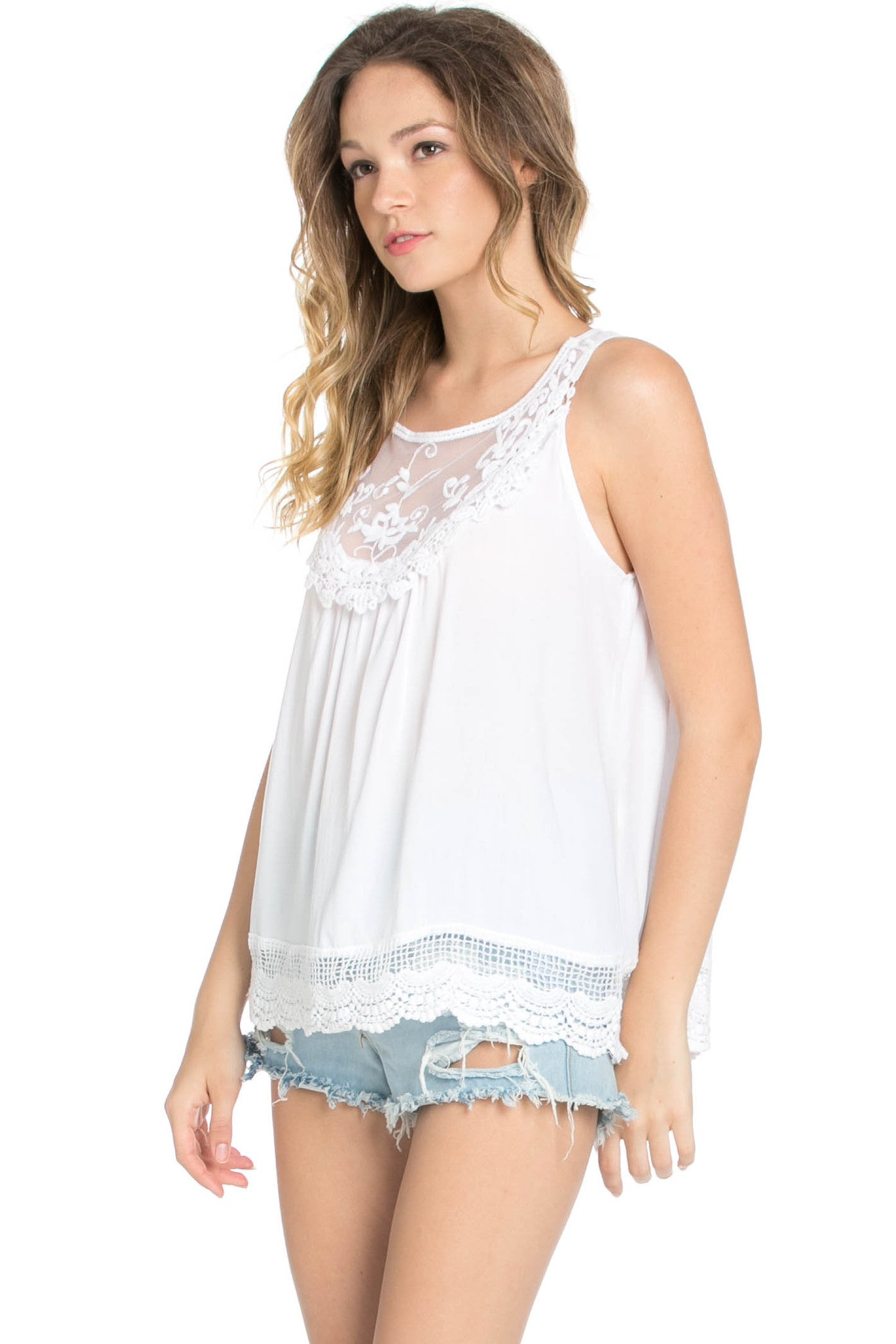 Crochets and Lace Ivory Top - Tops - My Yuccie - 6