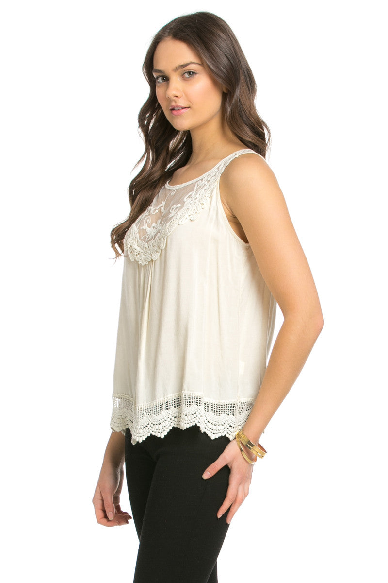 Crochets and Lace Ivory Top - Tops - My Yuccie - 12
