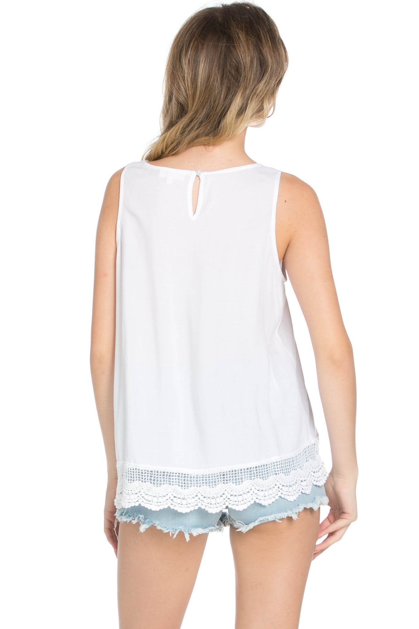 Crochets and Lace Ivory Top - Tops - My Yuccie - 7