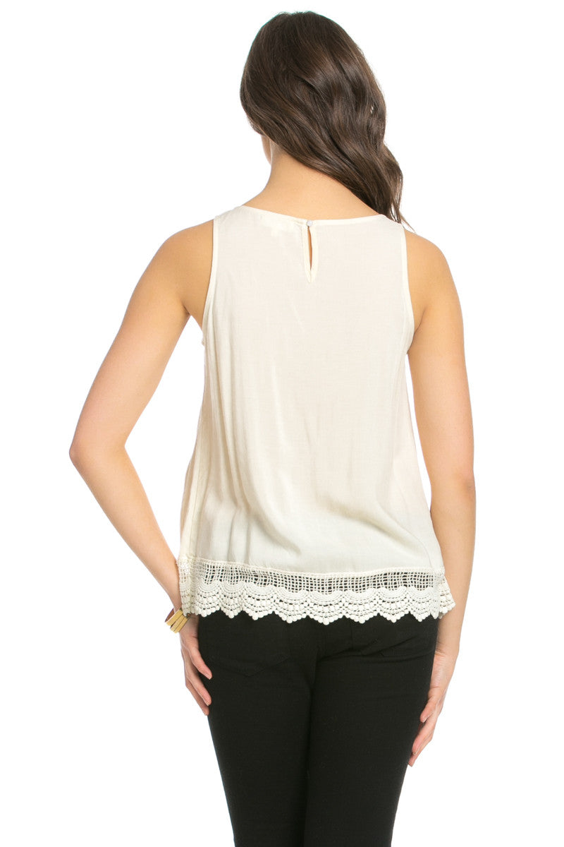 Crochets and Lace Ivory Top - Tops - My Yuccie - 13