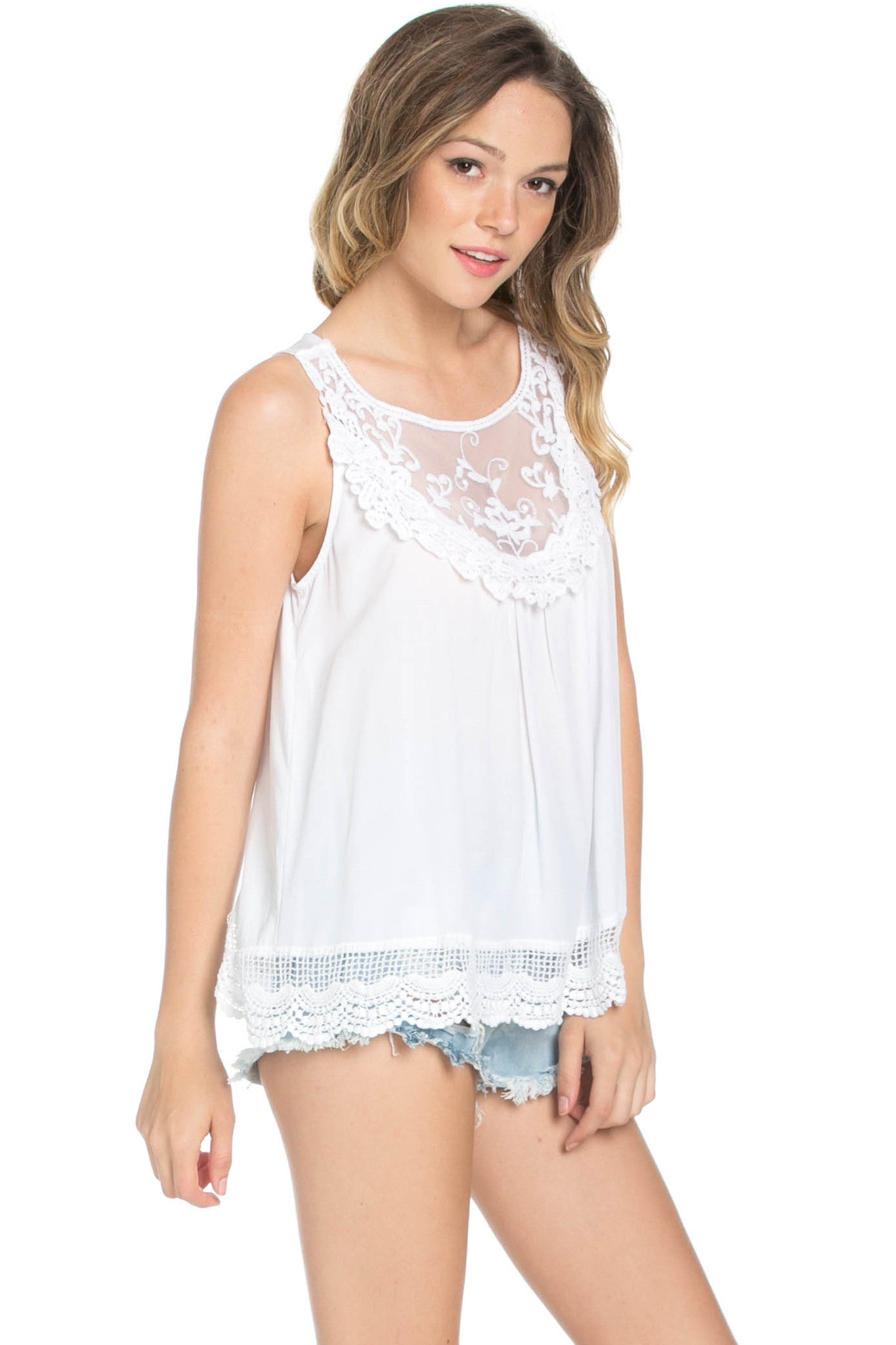 Crochets and Lace Ivory Top - Tops - My Yuccie - 8