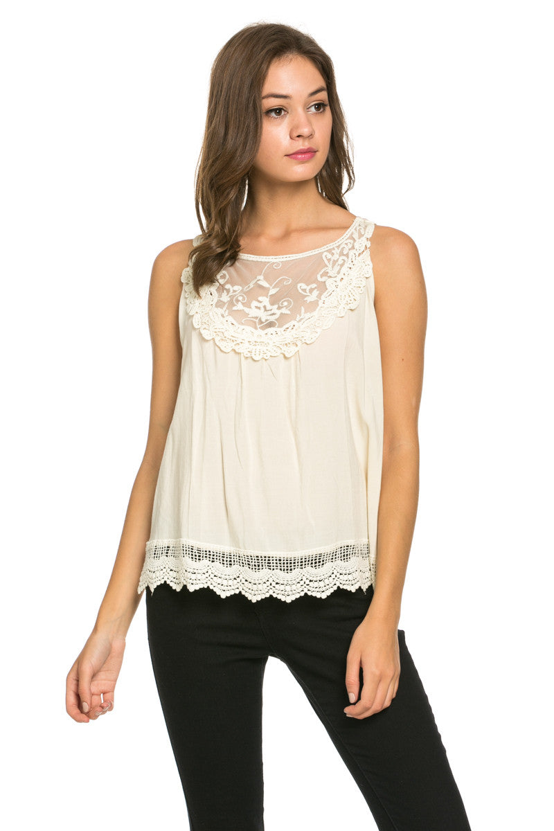 Crochets and Lace Ivory Top - Tops - My Yuccie - 2