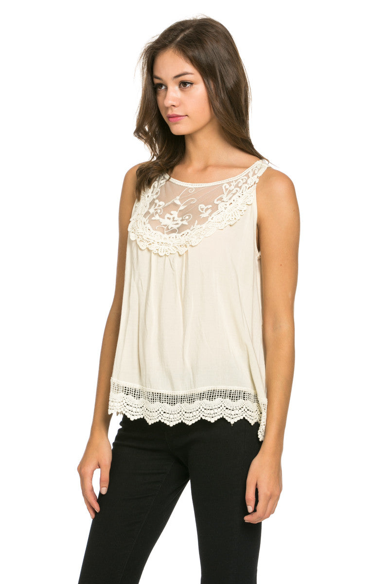 Crochets and Lace Ivory Top - Tops - My Yuccie - 4