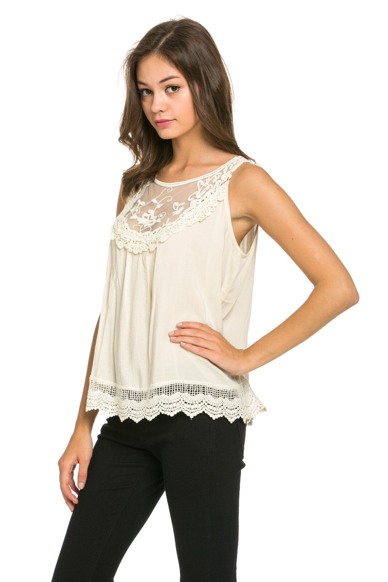 Crochets and Lace Ivory Top - Tops - My Yuccie - 3