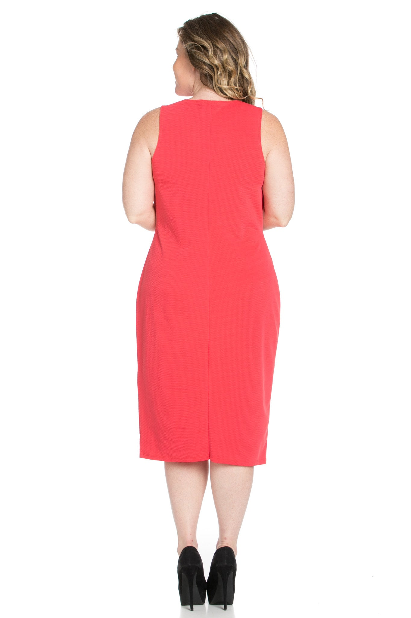 Coral Modest a Bit with Bare Shoulders Dress - Dresses - My Yuccie - 7