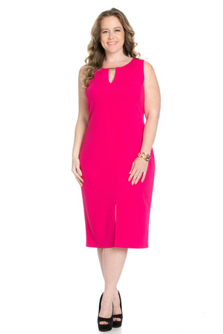 Fuschia Modest a Bit with Bare Shoulders Dress - Dresses - My Yuccie - 1