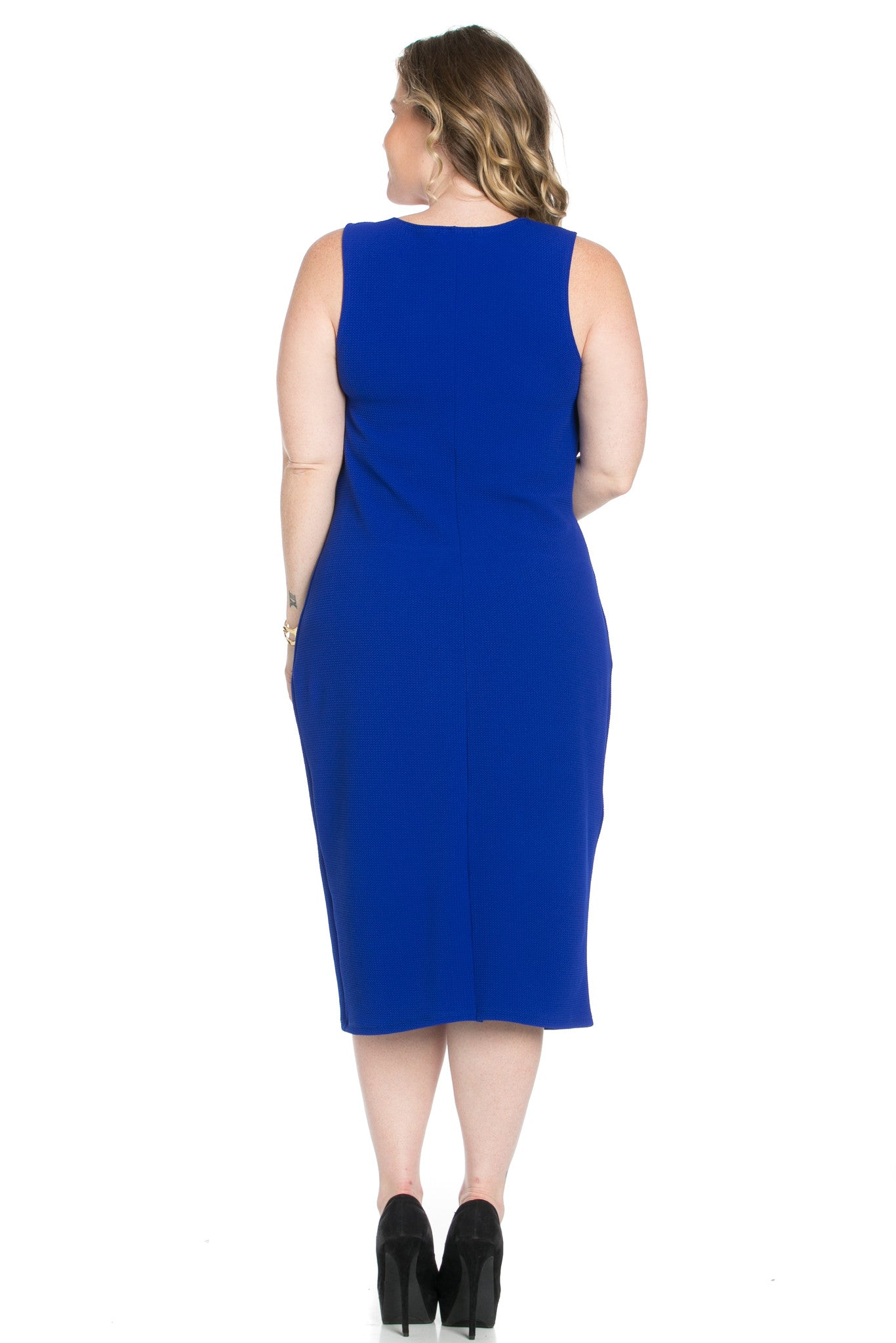 Royal Blue Modest a Bit with Bare Shoulders Dress - Dresses - My Yuccie - 7