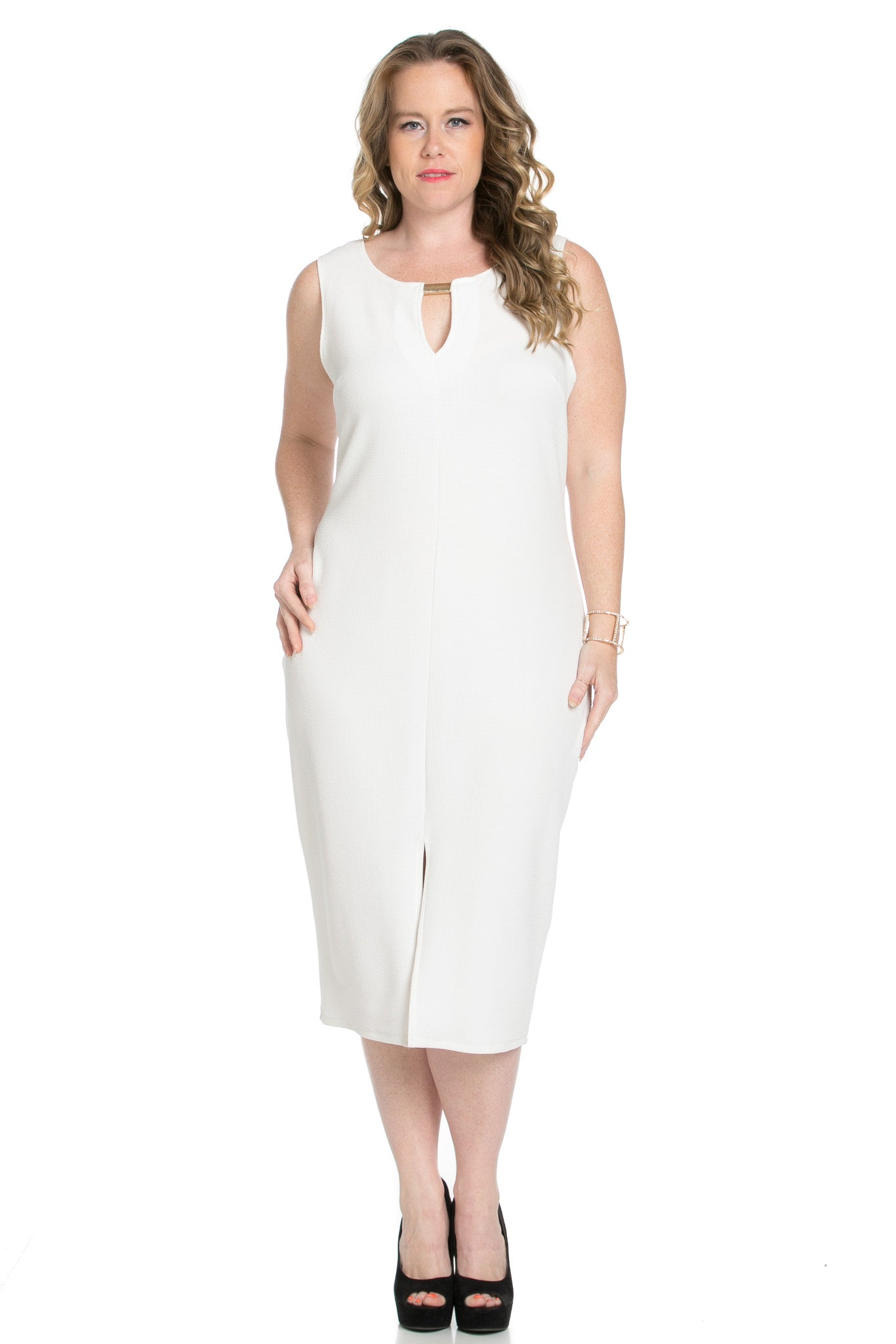 White Modest a Bit with Bare Shoulders Dress - Dresses - My Yuccie - 4