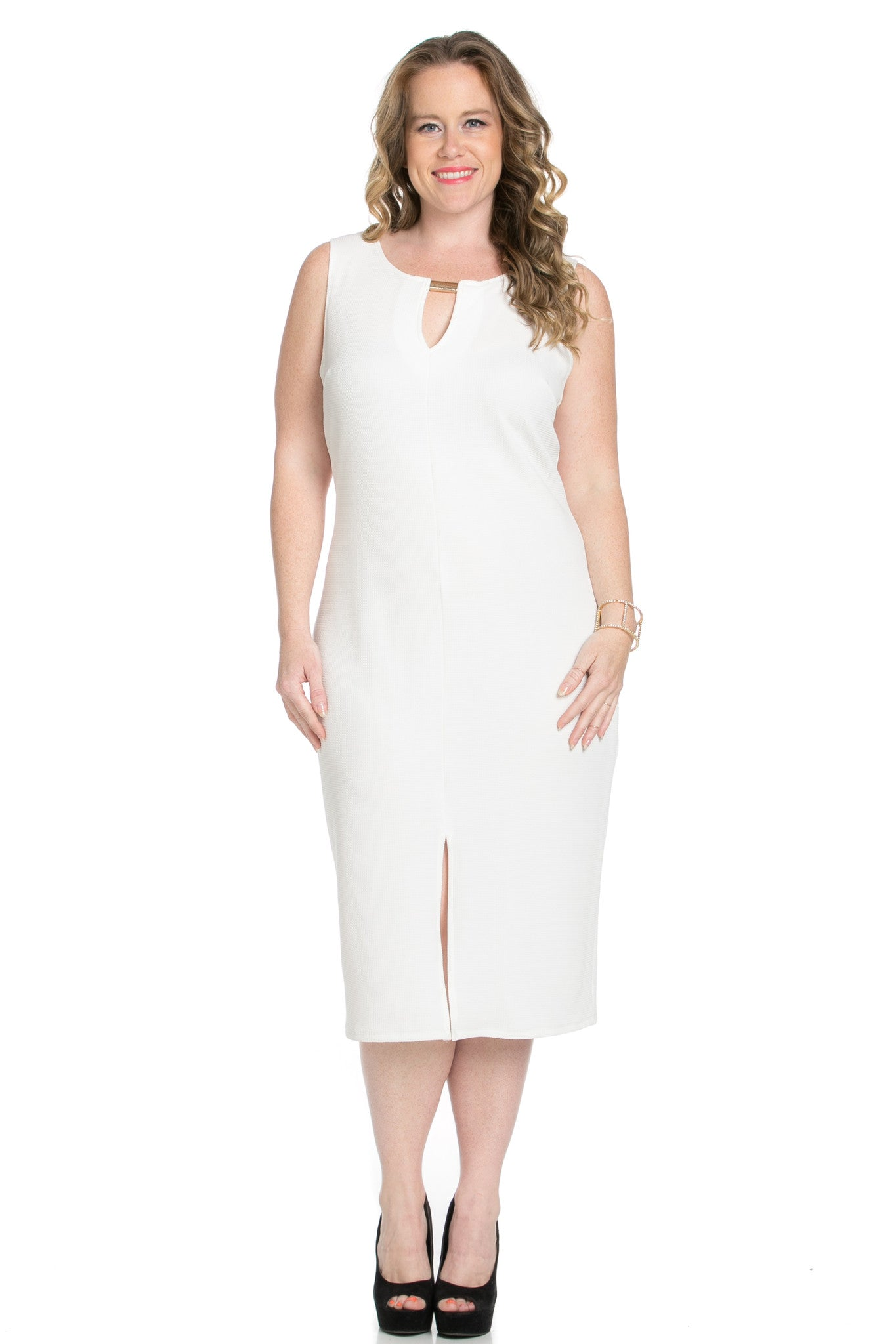 White Modest a Bit with Bare Shoulders Dress - Dresses - My Yuccie - 3