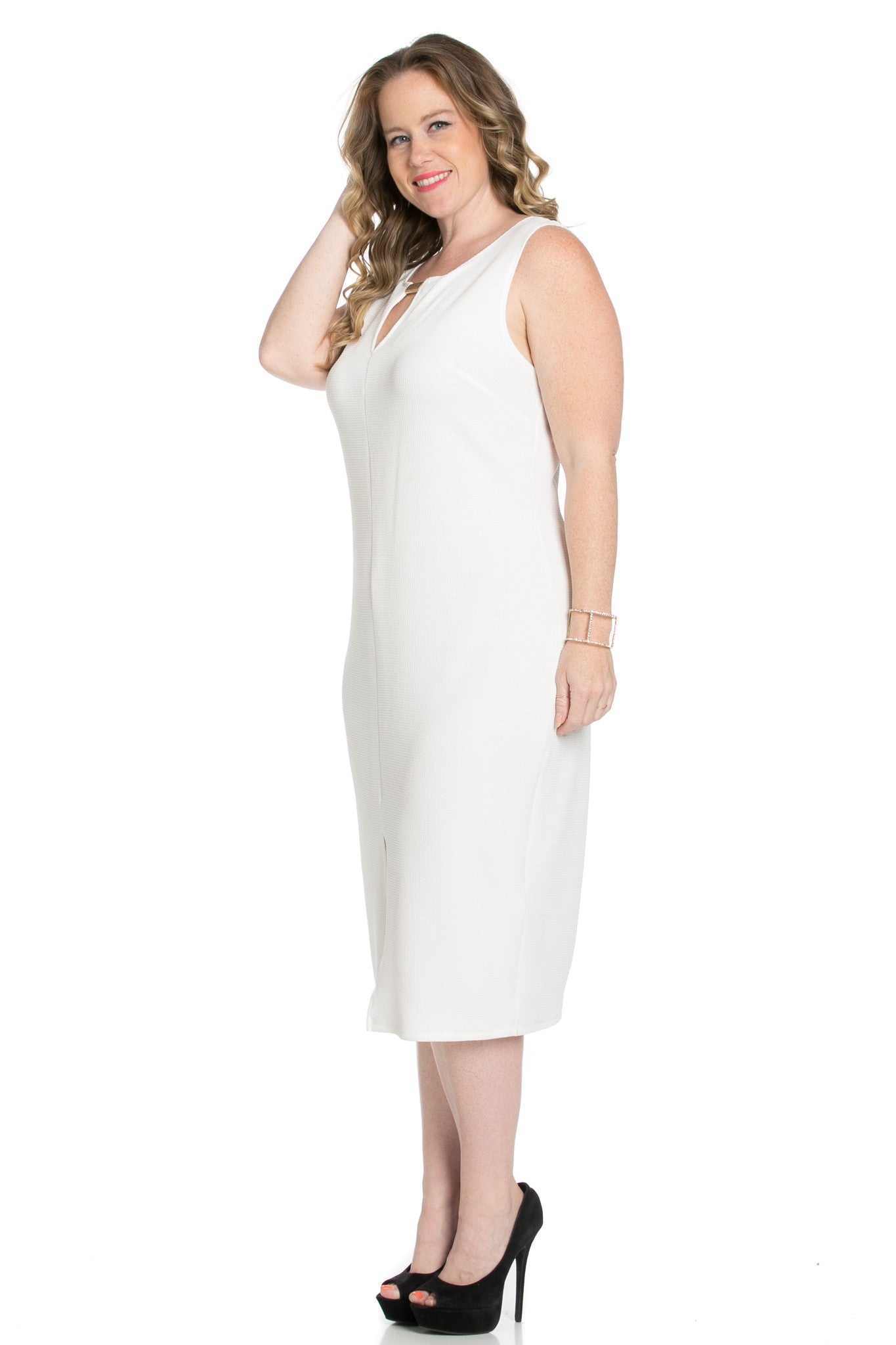 White Modest a Bit with Bare Shoulders Dress - Dresses - My Yuccie - 2