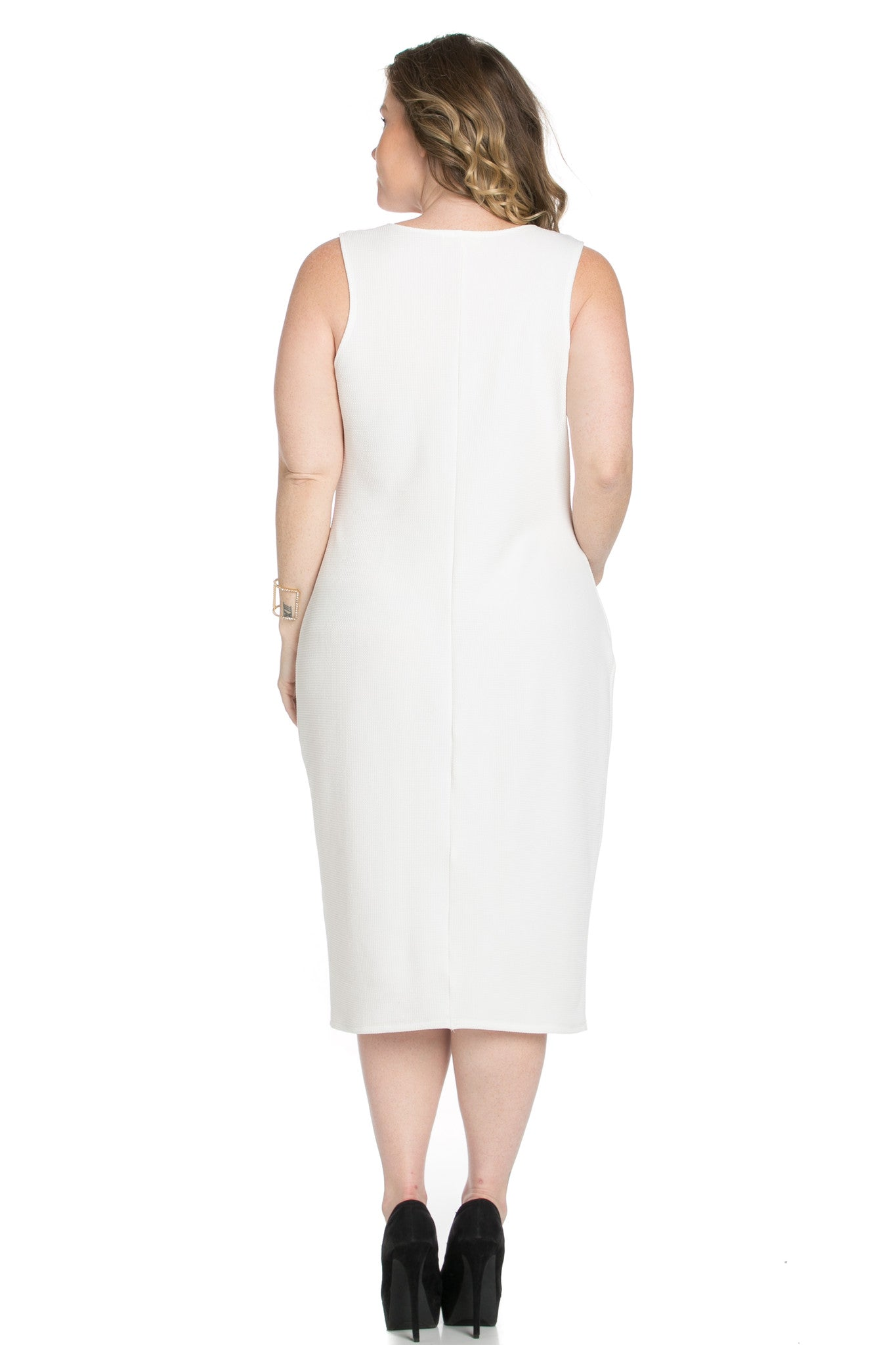 White Modest a Bit with Bare Shoulders Dress - Dresses - My Yuccie - 5