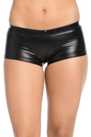 Faux Booty Shorts Black - Shorts - My Yuccie