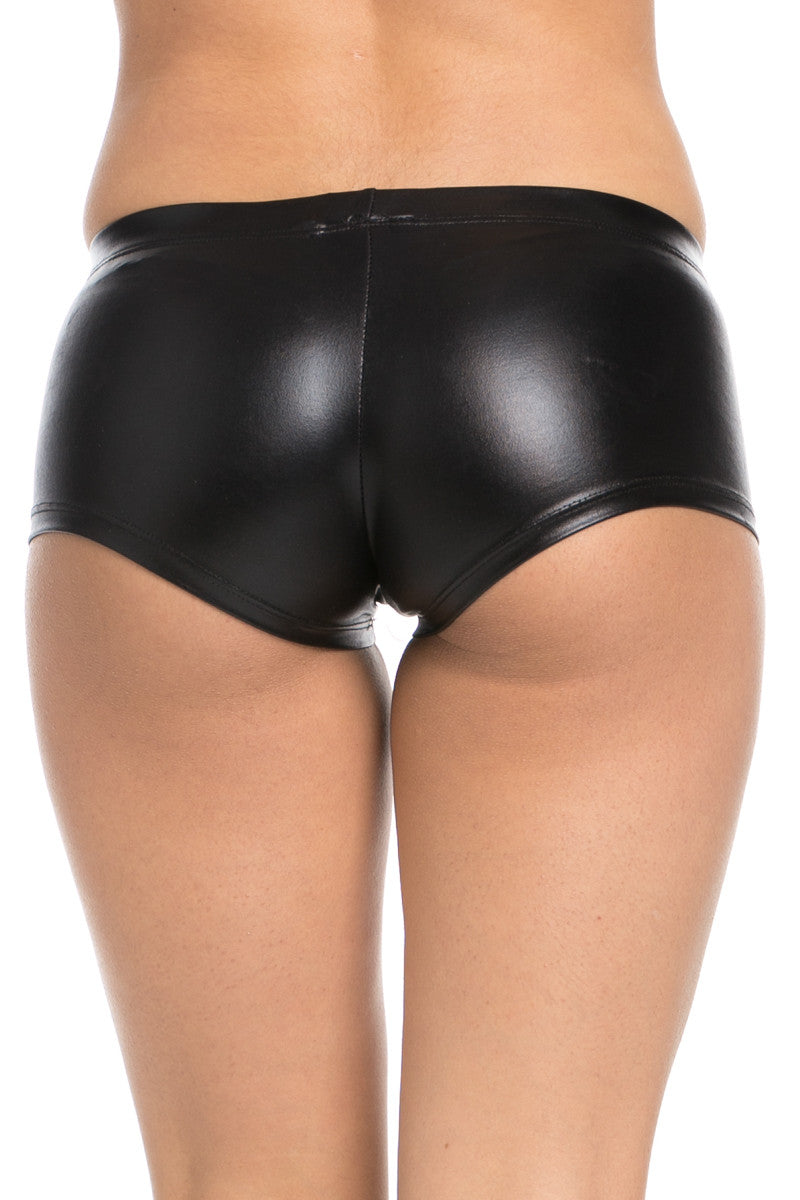 Faux Booty Shorts Black - Shorts - My Yuccie - 3