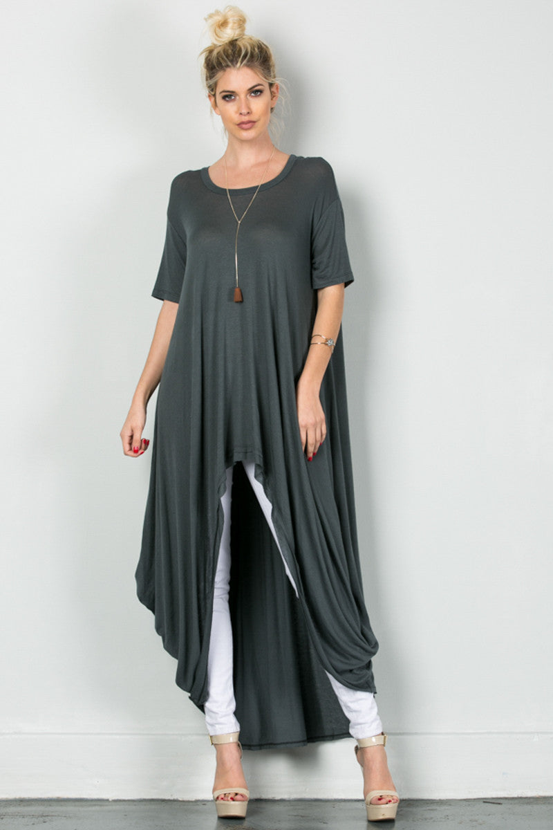 Drapes For Days Tunic Coal Black - Tunic - My Yuccie - 2