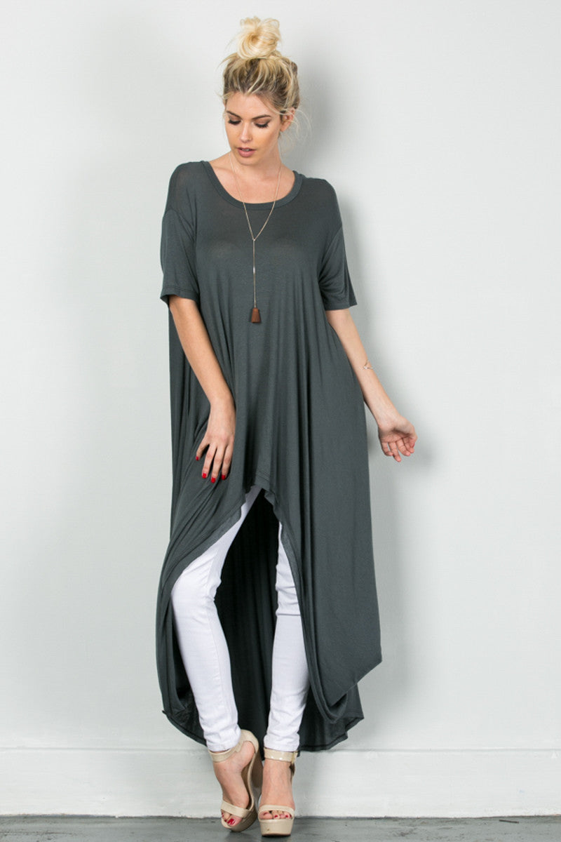 Drapes For Days Tunic Coal Black - Tunic - My Yuccie - 1