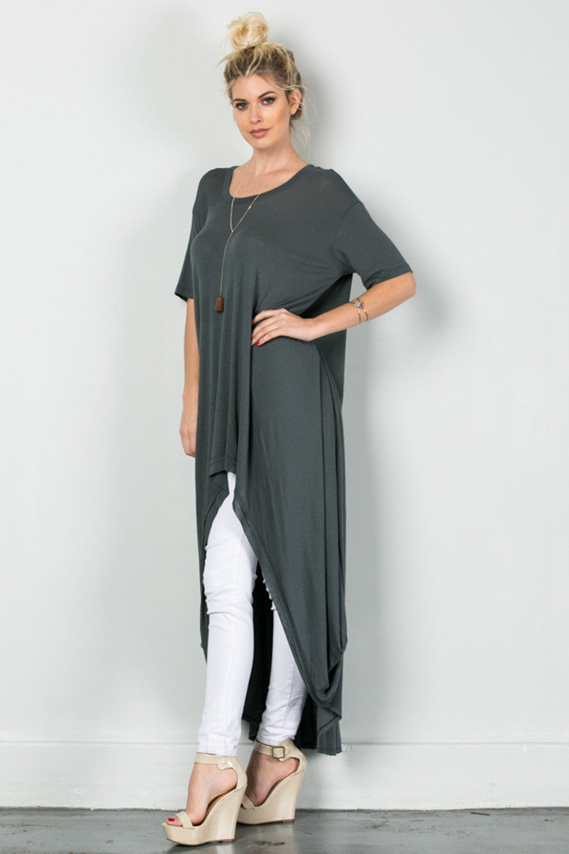 Drapes For Days Tunic Coal Black - Tunic - My Yuccie - 3