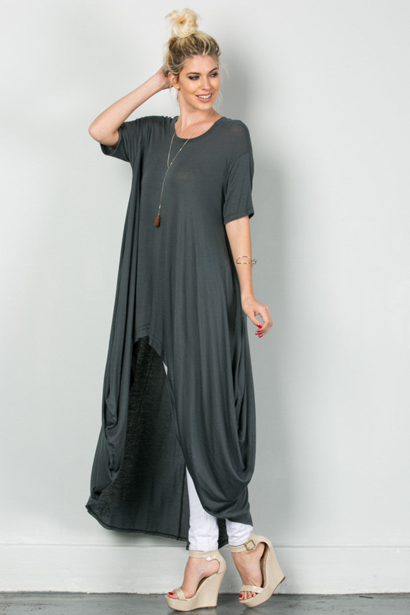 Drapes For Days Tunic Coal Black - Tunic - My Yuccie - 4