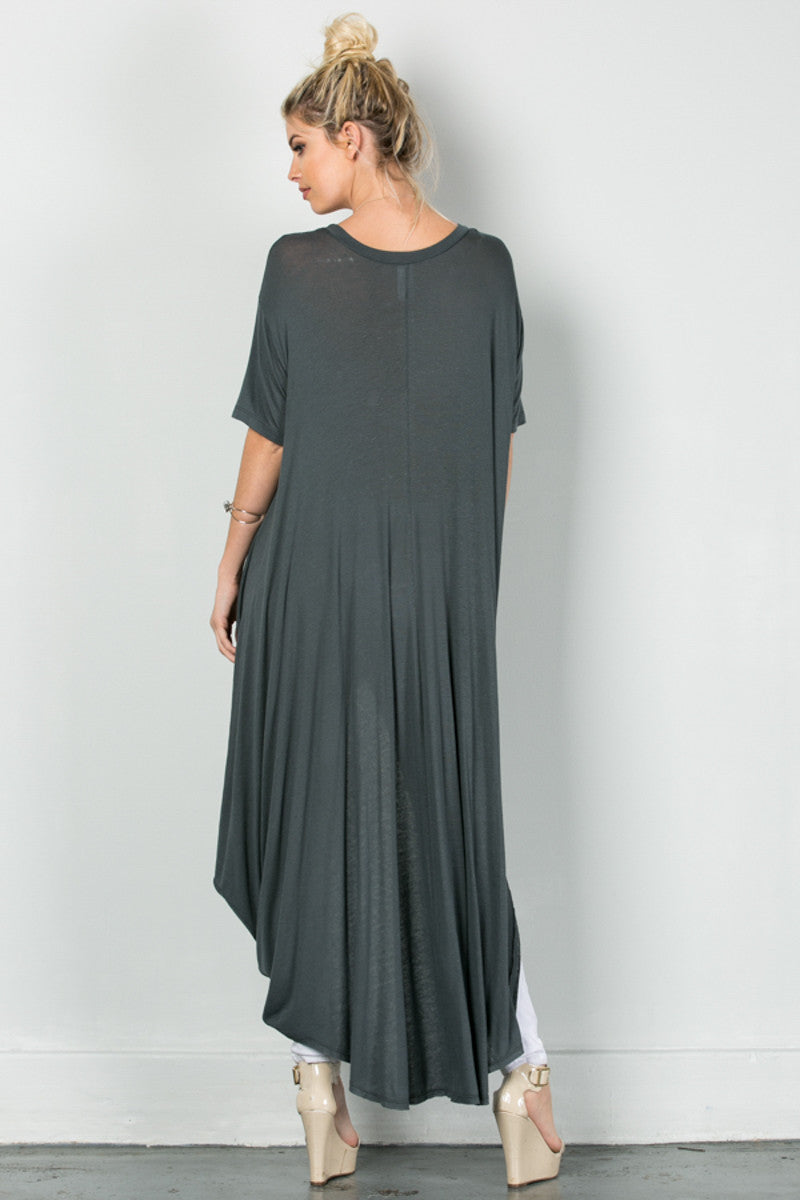 Drapes For Days Tunic Coal Black - Tunic - My Yuccie - 5