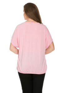Ruffled Blush Short Sleeve Top Plus Size - Tops - My Yuccie - 3