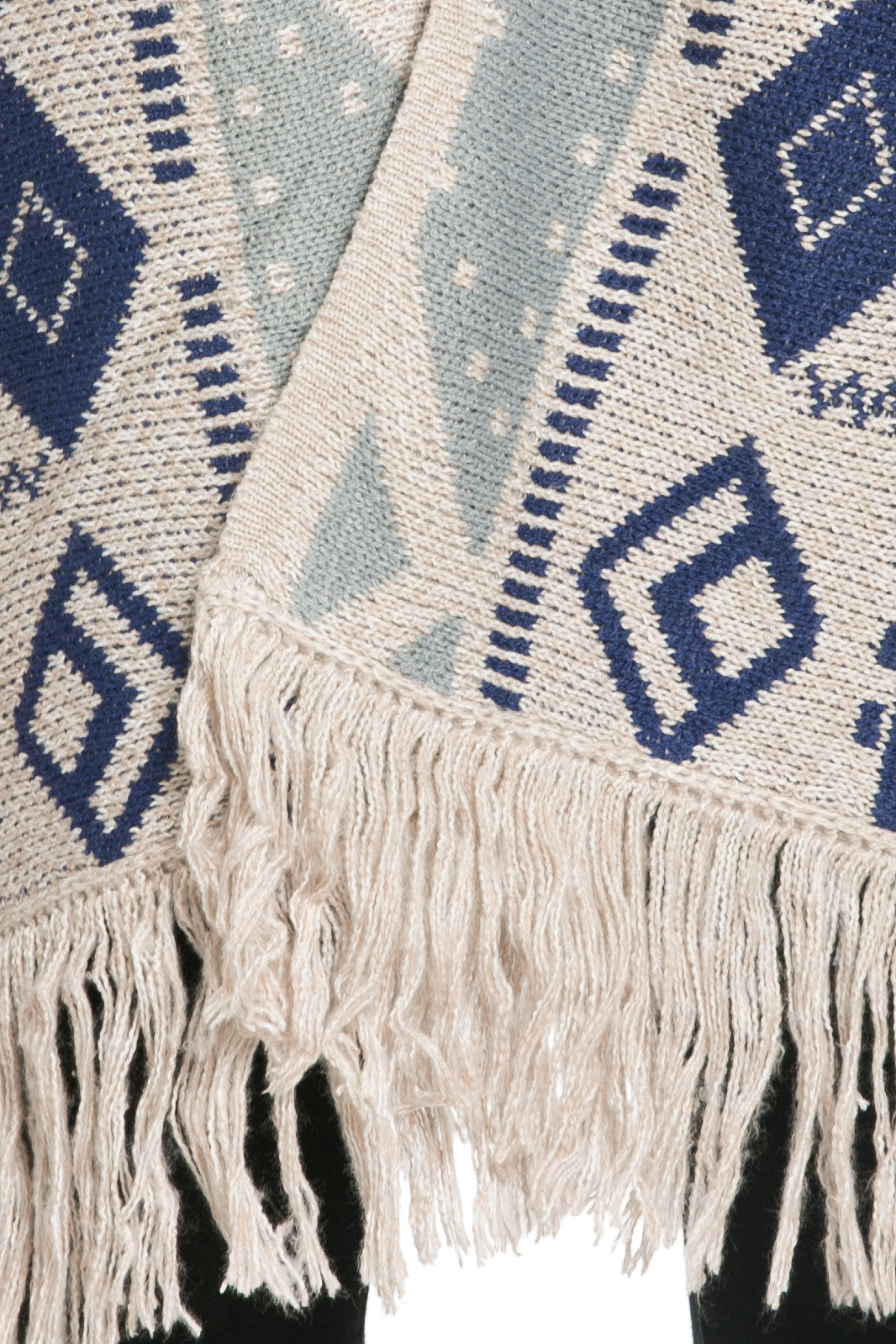 Aztec and Fringes Cardigan Taupe - Jacket - My Yuccie - 7