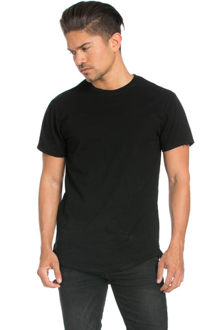Men's Basic Zipper Black T-Shirt - Tops - My Yuccie - 1
