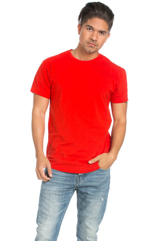 Men's Basic Zipper Red T-Shirt - Tops - My Yuccie - 1