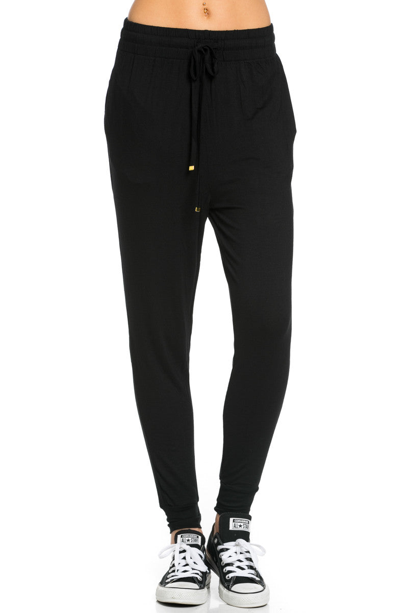 Lightweight Jogger Pants Black - Jogger Pants - My Yuccie - 1