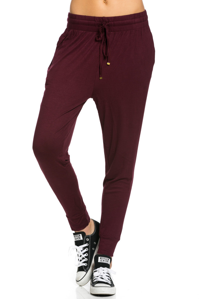 Lightweight Jogger Pants Burgundy - Jogger Pants - My Yuccie - 2