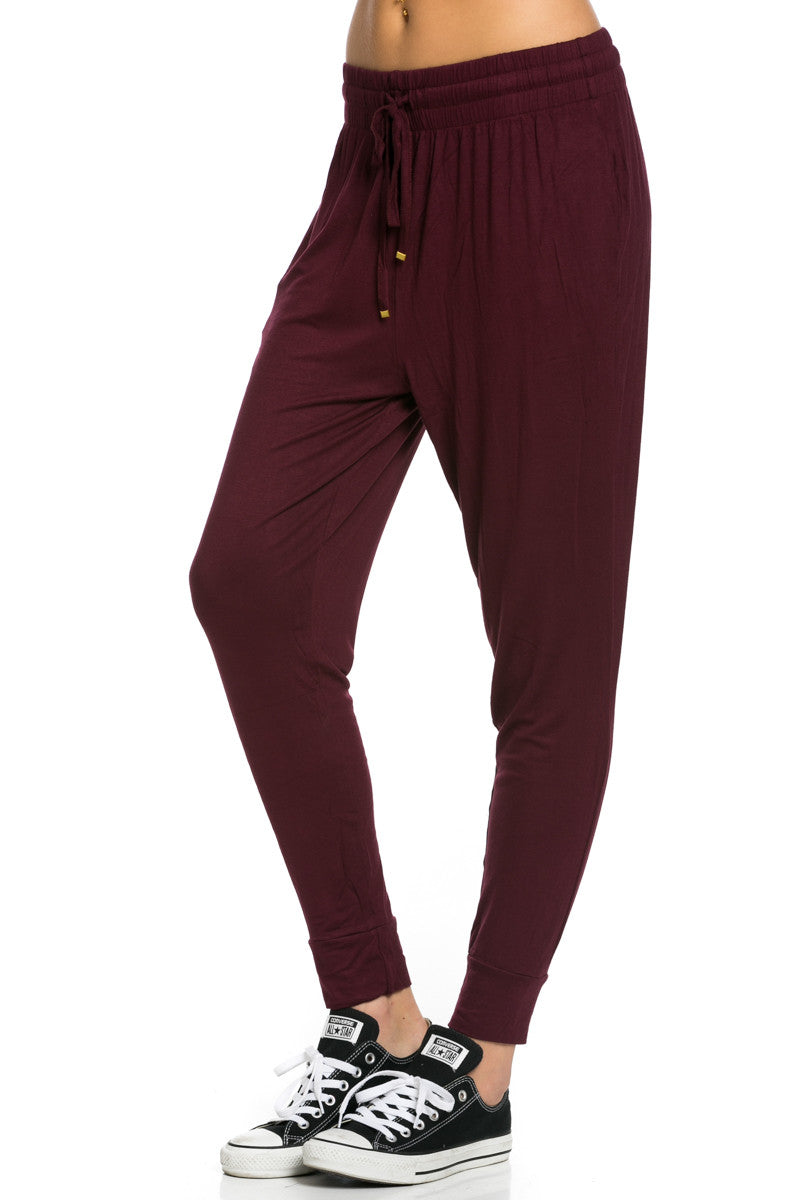 Lightweight Jogger Pants Burgundy - Jogger Pants - My Yuccie - 3